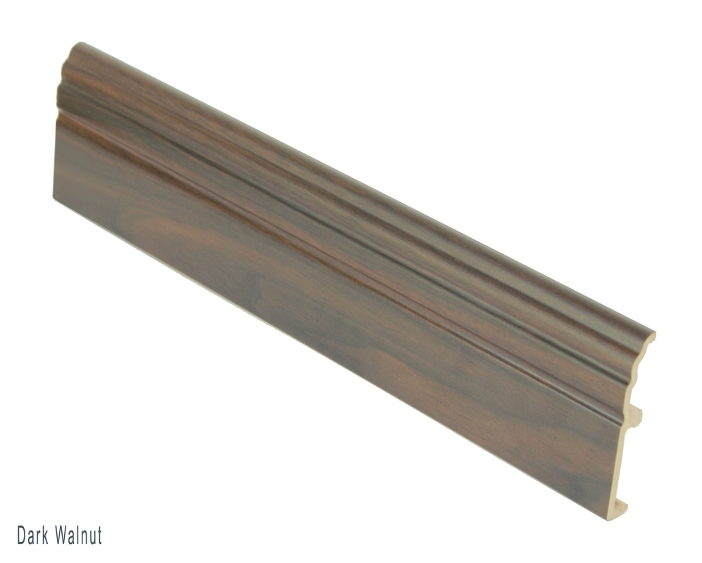 wpc skirting dark walnut